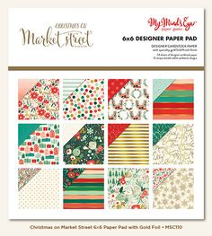 My Mind's Eye - Christmas on Market Street Collection - 6 × 6 Paper Pad at Scrapbook.com