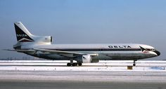 Delta Air Lines Lockheed L-1011-385-1 TriStar 1 N729DA at New York-LaGuardia, February 1985. (Photo: © Jon Proctor)