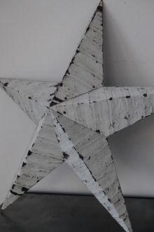 etoile de grange Amish zinc blanche modele moyen