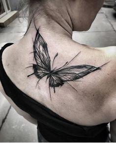 Inez Janiak butterfly tattoo