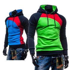 men and color tops autumn&winter bring fleece one-piece hat men hoodie coat jacket&coats-import-express.com