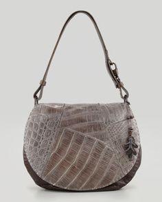 0d8db8ebec47 Henry Beguelin Crocodile-Flap Messenger Bag