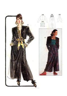 Burda 5196 Draped Wrap-Look Wide Pants Ruched Burda Patterns, Wrap Pants, Evening Dresses For Weddings, Bolero Jacket, Belt Tying, Wide Leg Pants, Camisole Top, Wonder Woman, Couture