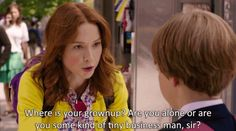 """Are you some kind of tiny businessman sir? 
