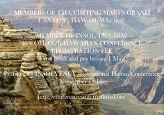 Hawaii - grand canyon. Insolvency Conference November 13-15. 40% off registrations if book before May1 2016