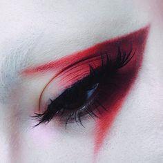 Editorial red eye make up