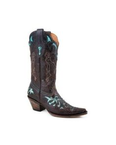 Stetson Women's Distressed Python Inlay Cowgirl Boot Pointed - http://shoes.goshopinterest.com/womens/boots/rain/stetson-womens-distressed-python-inlay-cowgirl-boot-pointed/