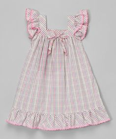 Love this Lavender Gingham Angel-Sleeve Dress - Infant & Toddler by Les Petits Soleils by Fantaisie Kids on Toddler Dress, Toddler Outfits, Baby Dress, Toddler Girl, Kids Outfits, Infant Toddler, Little Dresses, Little Girl Dresses, Girls Dresses