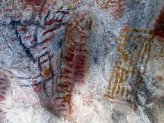 The cave paintings in Baja California are the oldest works of art in the Americas. Pic from El Vallecito in Tecate.