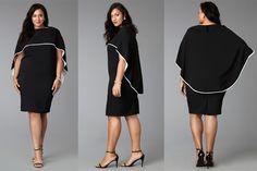 #PlusModelMag Plus Fashion Find: Drape Cape Dress from Yona New York #PLUSmodelmag