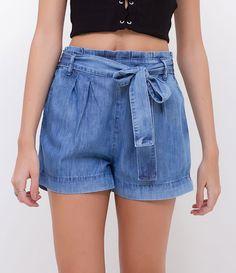 2e7f12984 7 melhores imagens da pasta Saia jeans cintura alta | 90s fashion ...