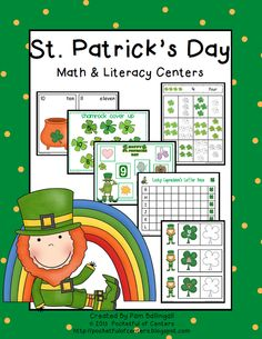 St Patrick's Day Math & Literacy Centers