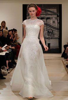Illusion Necklines | Wedding Dresses and Style | Brides.com : Brides - Reem Acra