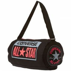 CONVERSE All Star Small Legacy Duffel Bag - Black   Crimson   Grey Chuck  Taylor Style da97912ddb3b3