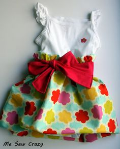 Me Sew Crazy: Jump Starting Madeline's Spring Collection - the Bubble Ruffle Dress!