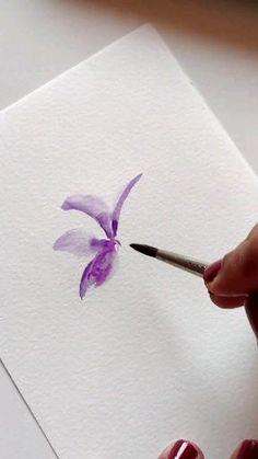 Watercolor Beginner, Watercolor Paintings For Beginners, Watercolor Art Lessons, Abstract Watercolor, Watercolor Flowers Tutorial, Watercolor Tutorials, Diy Canvas Art, Arts, Watercolors