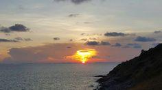 Sunset at laemchabang