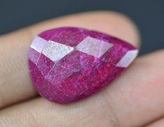Natural 28.30 Ct Nice EGL Certified Pear Shape African Red Ruby Gemstone~ | eBay