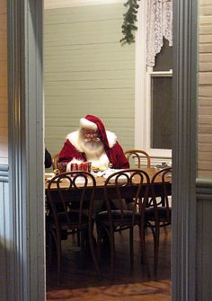 We don't know if Santa needs a soda, but we know he can use a break!  Wayne MacKinnon photo