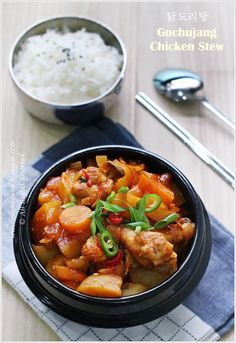 Gochujang Chicken Stew (DakDoriTang - 닭도리탕)