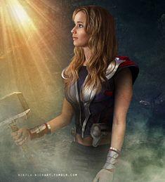 • jennifer lawrence Graphic The Avengers Chris Hemsworth Thor nickart Gender Swap i was inspired by that alison brie edit nikola-nickart •
