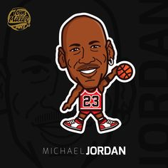 Michael Jordan #michael #jordan #michaeljordan #air #chicago #bulls #nba #basketball #cartoon #comic #vector #tommillerart