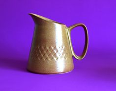 Diana Pottery Nefertiti Jug - Australian Pottery Pitcher - Vintage Mid Century Stoneware Water Jug - Made in Australia by FunkyKoala on Etsy