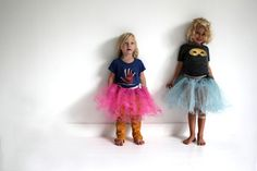 Tutu skirt in tough combination. Love the styling.