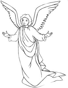 Angel clipart black and white - pin to your gallery. Explore what was found for the angel clipart black and white Free Christmas Coloring Pages, Free Printable Coloring Pages, Coloring Pages For Kids, Coloring Books, Coloring Sheets, Angel Drawing, Line Drawing, Angel Clipart, Angel Coloring Pages