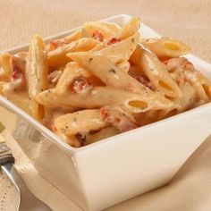 Recipes, Dinner Ideas, Healthy Recipes & Food Guide: Penne Pasta with Sun-dried Tomato Cream Sauce