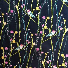 44 inches wide sold by the yard cotton Bird On Branch, Flower Branch, Koi Dragon, Geisha Japan, Asian Fabric, Cotton Quilting Fabric, Branches, Printing On Fabric, Plant Leaves