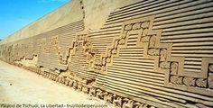Palacio de Tschudi, ejemplo de la arquitectura antigua en La Libertad.  Como parte de los atractivos turísticos del distrito de Trujillo, en el departamento de La Libertad encontramos el Palacio de Tschudi, que también se le conoce como el Conjunto Amurallado de Nik An, ya que habría estado dedicada al dios del mar Ni.