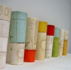 Diana Fayt - beautiful!! This would be a fun project using glaze pencils for doodles or tangles