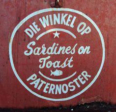 Shop sign in Paternoster | Afrikaans | Pinterest | Shop Signs ...