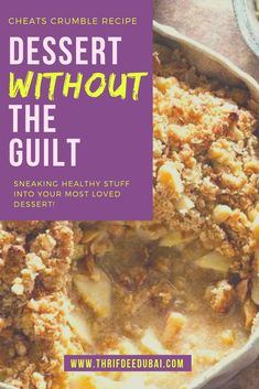 What if I told you that you could get some much needed HEALTH boosting superfoods into your body all while indulging in a delicious dessert? Winter Desserts, Easy Desserts, Delicious Desserts, Dessert Recipes, Yummy Food, Dessert Ideas, Crumble Recipe, Crumble Topping, British Pudding
