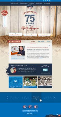 Little League 75th Anniversary website design concept by Sara Dailey, via Behance