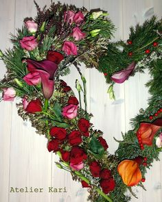 Atelier Kari natural decorations and wreaths: A Heart for loss.