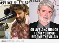 HA! As much as I love George Lucas, this just makes me laugh.