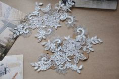 Silver threaded lace