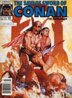 The Savage Sword of Conan (Jan Marvel) for sale online Marvel Comics, Conan Comics, Fantasy Art Men, Fantasy Comics, Comic Book Covers, Comic Books, Conan The Barbarian Comic, Conan O Barbaro, Ed Roth Art