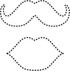 lips and moustache templates to put on suckers for valentine s day