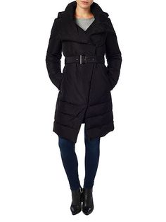 Cierra wrap neck puffer coat