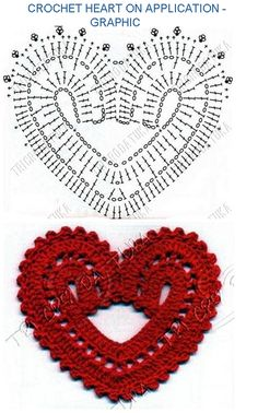 Tina's handicraft : 27 designs patterns for crochet harts Crochet Motifs, Granny Square Crochet Pattern, Crochet Diagram, Crochet Chart, Thread Crochet, Knitting Patterns, Crochet Patterns, Crochet Decoration, Crochet Snowflakes