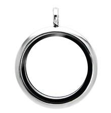 Large 30mm Plain Silver Locket