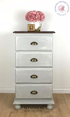 Chest of Drawers, Painted Chest of Drawers, Grey Drawers, Tall Chest of Drawers, Painted Drawers, Bedroom Furniture, Grey Drawers