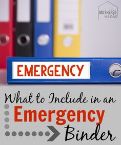 important documents In case of natural disaster that requires evacuating your home, here are some essential things you should have tucked away in an emergency binder Emergency Binder, In Case Of Emergency, Emergency Kits, Emergency Supplies, Home Binder, Important Documents, Emergency Preparation, Disaster Preparedness, Natural Disasters