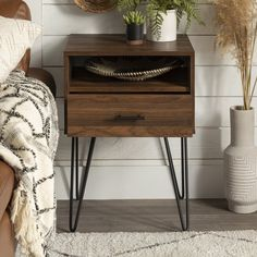 End Tables With Storage, Coffee Table With Storage, White Rug, White Area Rug, Arc Floor Lamps, Modern Side Table, Engineered Wood, Open Shelving, Rustic