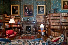 Library, Dunster Cstle, Somerset