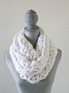 This scarf is made in a unique, v-stitch pattern to give it some extra texture and a beautiful detailed look.
