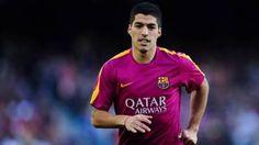 Luis Suárez, durante el calentamiento previo al Barça-Valencia